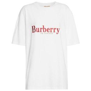 Burberry绣字Logo短袖