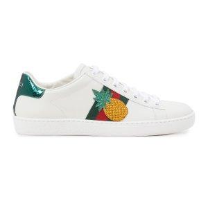 Gucci菠萝小白鞋