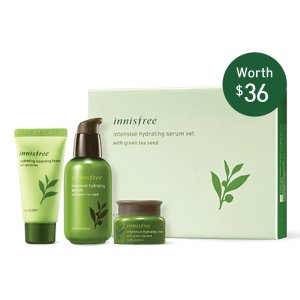 Innisfree Intensive hydrating serum set with green tea seed