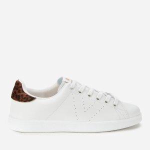 Victoria豹纹尾小白鞋