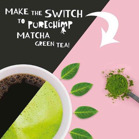 现价£9.95(原价£11.95)PureChimp抹茶粉好价限时热促 家里就可以享用的抹茶美味
