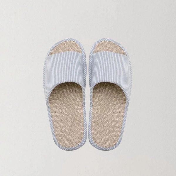 清风自然棉麻居家拖鞋