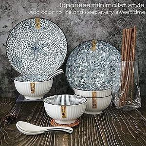 4人份仅€19.99陶瓷日式餐具套装 简约实用 粗陶制成 复古优雅 洗碗机微波适用