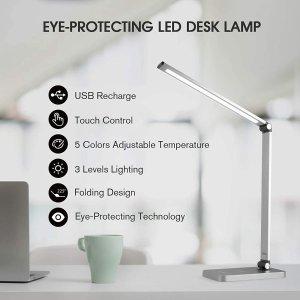 $22.99(原价$45.99)史低价:Mafiti 桌上LED 台灯 触控操作 3种亮度温柔护眼