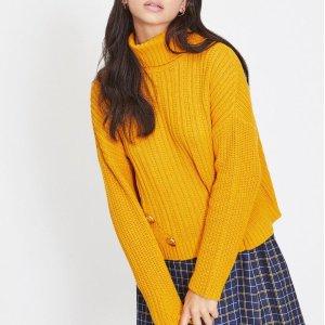 低至7折 £28入这一季最流行的姜黄色毛衣Miss Selfridge 秋冬美衣折扣热卖