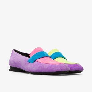 拼色款乐福鞋