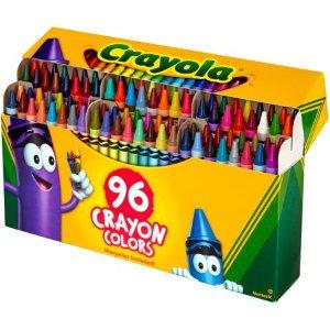 $4.97白菜价:Crayola 绘儿乐蜡笔96支 内置磨笔器
