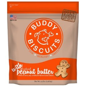 Buddy Biscuits Original Oven Baked with Peanut Butter Dog Treats