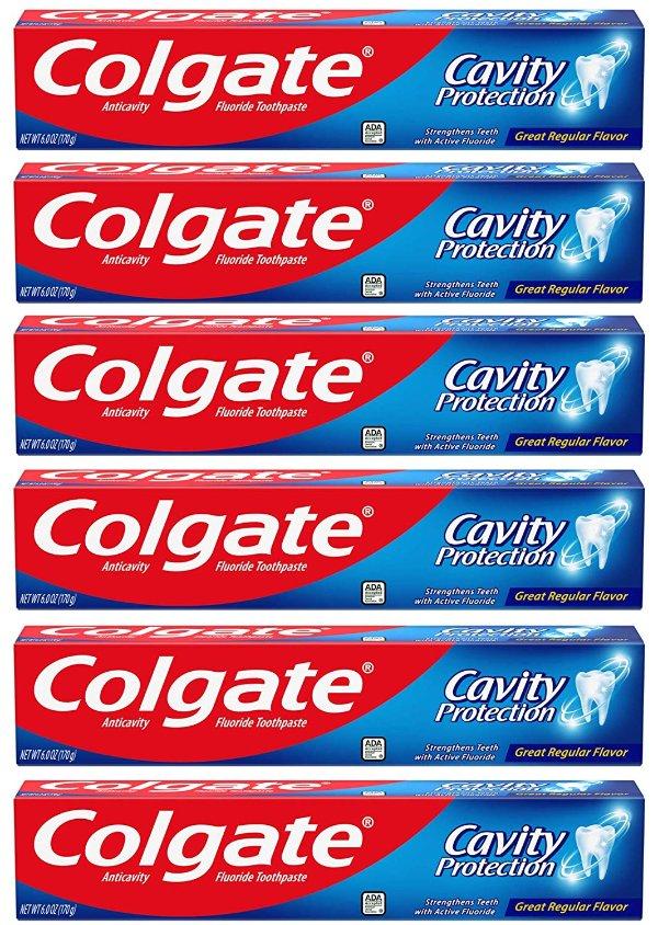 防蛀保护牙膏 6oz x 6支装