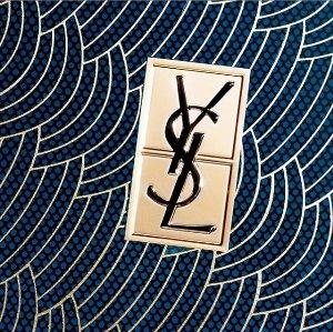 赠品价值$93 Beige最白色号DM独家:YSL 送限量版水波纹蕾丝气垫