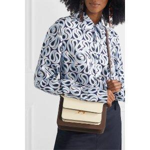 MarniTrunk small color-block leather shoulder bag