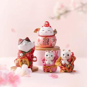 Lifease Japanese Design Sakura Theme Lucky Cat