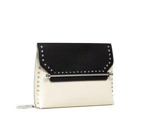 East/West Stylist - Studs - Black/Vanilla - Studded Clutch Bag - Strathberry