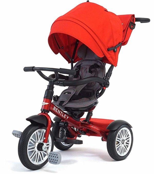 6合1宝宝童车/儿童三轮车 赤色