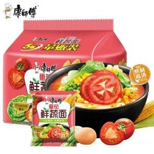 康师傅 番茄鲜蔬面 五连包 101g x 5