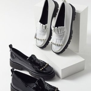 Bass Laney 乐福鞋 黑白两色