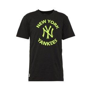 New Era黑色yankee短袖T恤