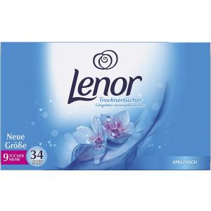 34张仅€2.68Lenor 烘干机香衣片 清新香味 减少静电 一次一片即可