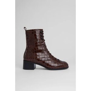by FARBota Nutella Croco Embossed Leather
