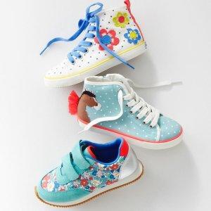 低至3折 部分再降 新增无门槛包邮即将截止:Mini Boden 儿童鞋履促销,还可凑母女鞋