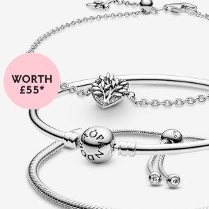 满£99送价值£55手链Pandora官网 春季给力赠礼 超精致手链满额直接送