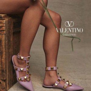 6折起 铆钉凉鞋£315Valentino官网 夏季大促铆钉鞋专场 凉鞋、高跟鞋、穆勒鞋全参与