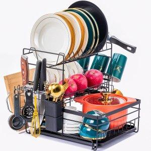 YINGA MOREFUN Dish Drying Rack with Drainboard