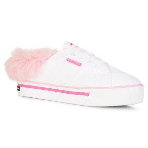 SupergaSuperga 粉色毛边鞋