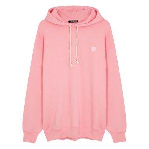 Acne StudiosFarrin Face pink cotton sweatshirt