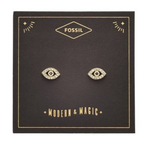 Fossil20% off 2 items, or 30% off 3 itemsEvil Eye Gold-Tone Stainless Steel Earrings