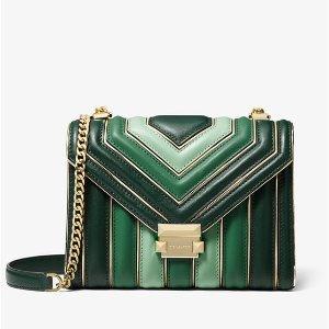 4107c3e54b01 Michael KorsWhitney Large Quilted Tri-Color Leather Convertible Shoulder  Bag.  308.00  358.00. Michael Kors ...