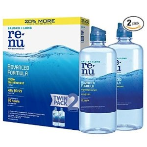 Bausch + Lomb ReNu Advanced Triple Formula Multi-Purpose Eye Contact Lens Solution Pack of 2