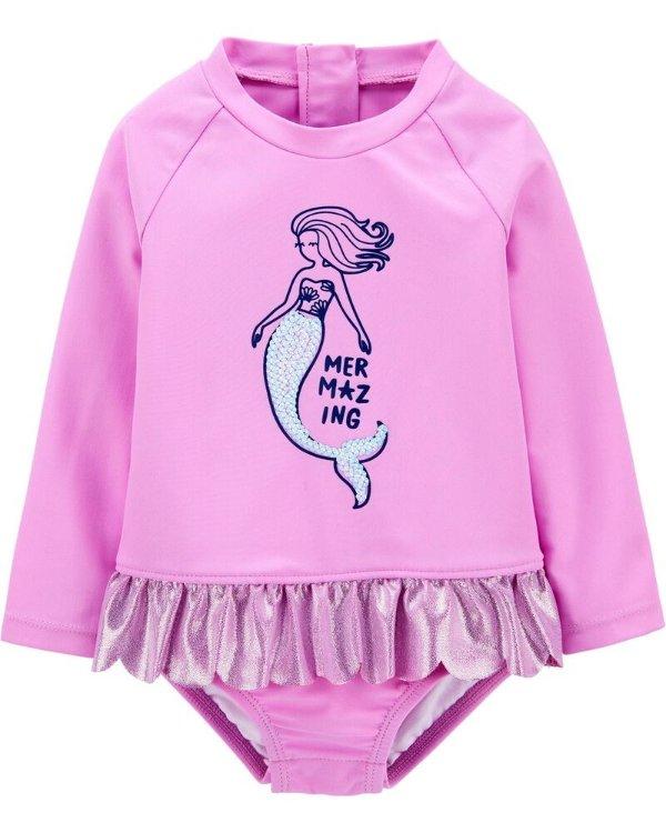 女婴、幼童连体泳衣