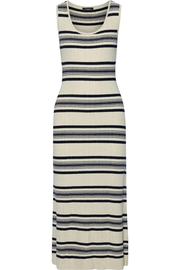 条纹针织裙
