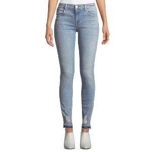 J BrandDistressed Faded Super Skinny Jeans