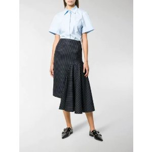 Thom Brownedraped chalk stripe skirt