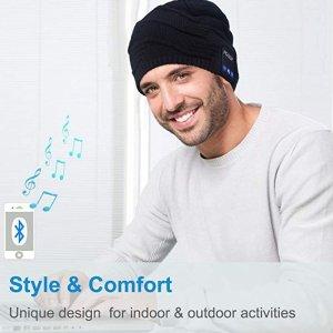 $19.99(原价$39.99)Qshell 可以听歌打电话的蓝牙毛线帽热销, 男女同款