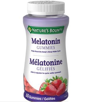 $7.09(原价$9.29)Nature's Bounty褪黑素草莓味软糖60粒 助睡眠防老化佳品~