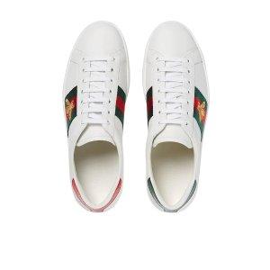 Gucci码较全!经典蜜蜂小白鞋