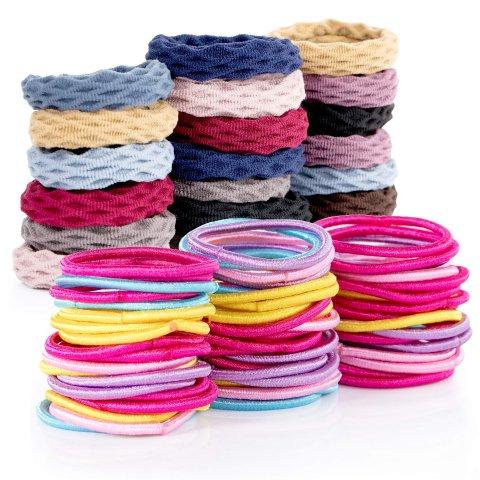 Elastic Hair Bands 120 Pcs