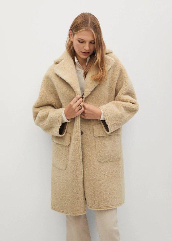 人造毛泰迪大衣