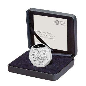 The Royal Mint脱欧纪念币 50P 银币