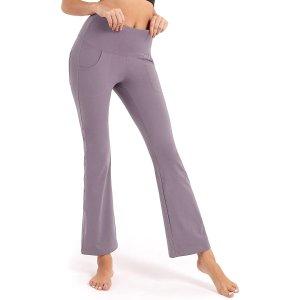 $11.99(原价$23.99)BROMEN 微喇瑜伽裤 修身型时尚感十足