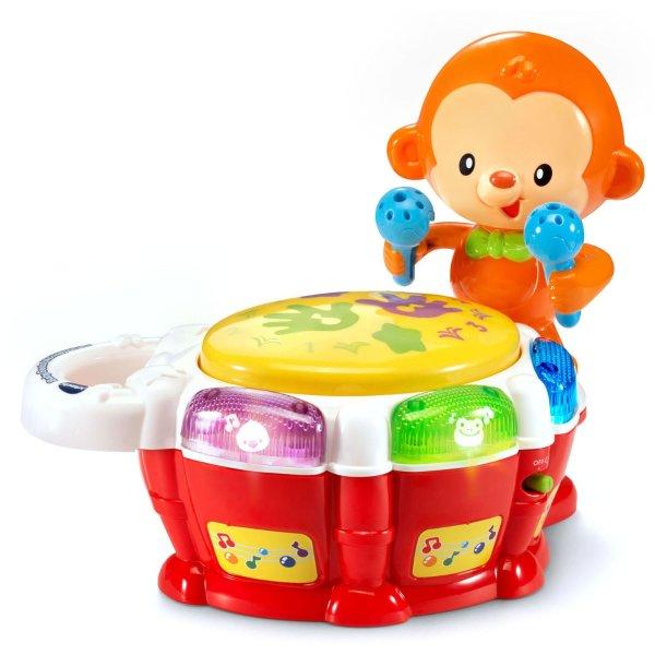 小猴敲鼓益智玩具