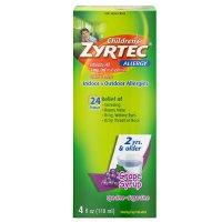 Zyrtec 儿童抗过敏糖浆,葡萄味,4oz