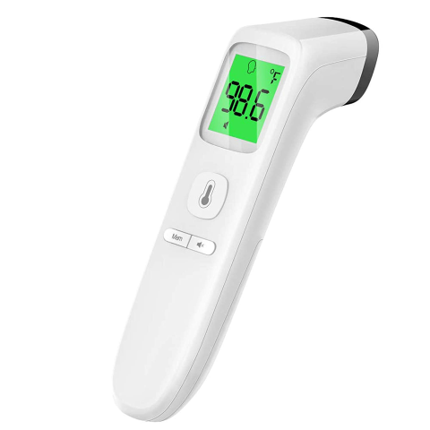 Touchless Thermometer for Adult-Forehead Thermometer with Fever Alarm and Memory Function