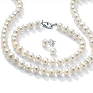 低至$16.80Walmart 淡水珍珠项链和耳钉套装白菜价