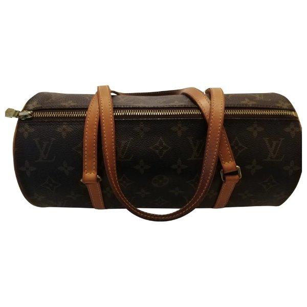 Papillon Leinen Handtaschen 25 Louis Vuitton
