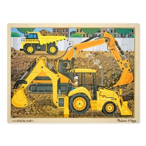 Melissa and DougBuy One Get Another 50% OffDiggers at Work Wooden Jigsaw Puzzle - 24 Pieces