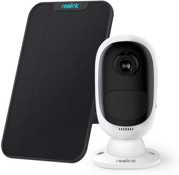 Reolink 户外智能安防监控摄像头 + 太阳能电池板